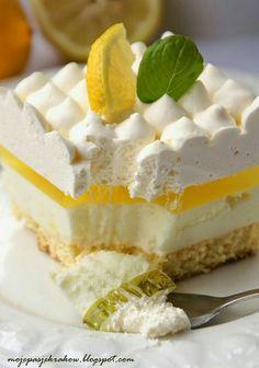 Polish Desserts, No Bake Desserts, Easy Desserts, Delicious Desserts, Sweet Pastries, French Pastries, Sweet Recipes, Cake Recipes, Dessert Recipes
