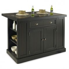 Product Information  Original Price: 1,539.99  Black Finish Kitchen Island With…
