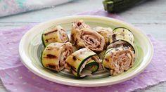 Sushi, Chicken, Prosciutto Cotto, Ethnic Recipes, Antipasto, Philadelphia, Grilled Zucchini, Zucchini Slice, Philly Cream Cheese