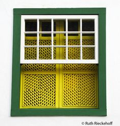 Green and Yellow Window, Parati, Brazil