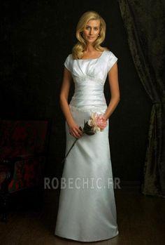 Robe de mariée Manche Longue Naturel taille Automne Vintage De plein air