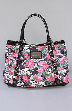 The Betseyville Skulls in Lace Tote by Betsey Johnson..Mine is VERY similar..Pink with skulls and Roses :) ~ Jla Xo