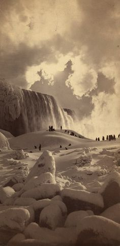 --George Barker, Niagara Falls (frozen over), New York, 1883