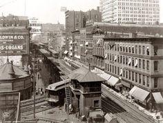 nós cidades de 100 anos atrás  Wabash Avenue, Chicago, 1907