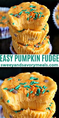 Pumpkin Fudge made in 5 minutes with only 5 ingredients #sweetandsavorymeals #pumpkin #pumpkinfudge #fallrecipe Candy Recipes, Fall Recipes, Baking Recipes, Fudge Recipes, Sweet Recipes, Vegan Recipes, Köstliche Desserts, Dessert Recipes, Delicious Cookie Recipes