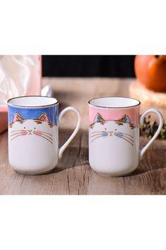 Lucky Cat Mug Set