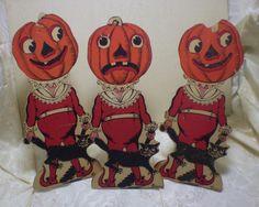 Original 1950s Vintage Halloween Beistle Jack O Lanterns Black Cats Lot of 3   eBay