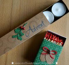 Stoff und Stempel / Adventskranz to go / Stampin'Up! Stoff und Stempel / Adventskranz to go / Stampin'Up! Christmas Paper Crafts, Stampin Up Christmas, Christmas Thoughts, Winter Christmas, Stampin Up Weihnachten, Diy Advent Calendar, Advent Wreath, Craft Box, Winter Cards