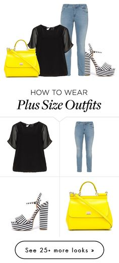"""Plus Size - Casual"" by kurvy-katie on Polyvore featuring Chinese Laundry, Zizzi, Verpass and Dolce&Gabbana"