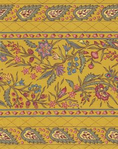 Dutch Chintz Border - Provence YELLOW- half (1/2) yard by Motifsbyhand on Etsy https://www.etsy.com/listing/165896959/dutch-chintz-border-provence-yellow-half