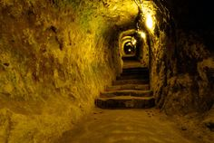 It sounds like something out of The Lord of the Rings - a huge, underground city of tunnels lit by oil lamps, with room for more than people, just. Door Picture, Underground Cities, Ancient Buildings, Archaeological Finds, British History, Sounds Like, Middle Earth, Archaeology, City