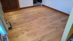Floor levelled and engineered oak laid, with (at customers request) oak effect beading over expansion gap at skirting Hardwood Floors, Flooring, Skirting Boards, The Expanse, Beading, Gap, Wood Floor Tiles, Beads, Hardwood Floor