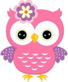 Big picture of pink owl Owl Crafts, Diy And Crafts, Pach Aplique, Owl Clip Art, Owl Birthday Parties, Owl Classroom, Owl Cartoon, Owl Patterns, Pink Owl