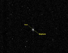 Pluto-Bound New Horizons Takes a Distant Look at Neptune with labels | NASA