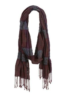 Plaid with Fringe and Elastic (original price, $14) available at #Maurices