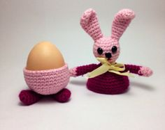 PDF PATTERN Bunny Easter Decoration.Egg warmer. Amigurumi Pattern ~ PATTERN FOR SALE. Link correct when I checked on 04/09/2015