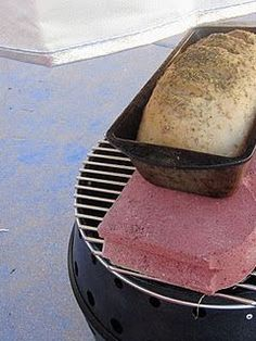 Baking bread on the grill...and other great tips on how to feed your family if you don't have power.