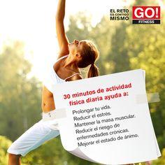 30 minutos de ejercicio ayudan... #clasesgo #ejercicio #gym #fit #fuerza #flexibilidad #reto #motivate