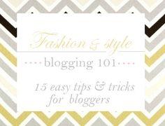 Fashion/Style Blogging Tips for New Bloggers / The Urban Umbrella