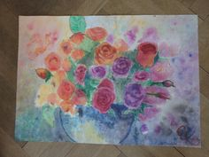 FLOWERS 2 Watercolor painting by ArtbyEfka on Etsy