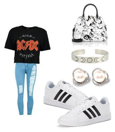 """""""Untitled #99"""" by desireelovesfashion on Polyvore featuring WithChic, Boohoo, adidas and Maison Margiela"""