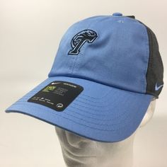 989cf7f73e1 Women s Nike Heritage86 Tulane Green Wave NCAA Baseball Cap Hat Blue Gray   Nike  BaseballCap  TulaneGreenWave