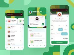 Drink Order App - Exploration by Dindra Desmipian for Paperpillar on Dribbble App Ui Design, Mobile App Design, Interface Design, Web Design, Mobile Ui, Graphic Design, Android Tutorials, Seo Tutorial, Application Design