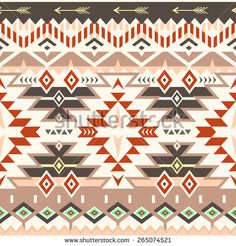 Stock Images similar to ID 264892022 - vector seamless tribal pattern...
