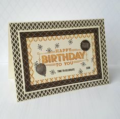 Stampin' Up! Demonstrator stampwithpeg : A 'Super Duper' Moroccan Birthday card.