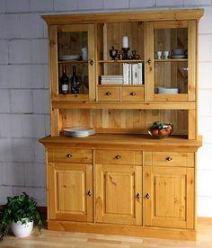 Massivholz Buffetschrank Küchenschrank Buffet Kiefer massiv Holz gelaugt
