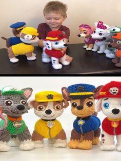 personajes de paw patrol tejido a crochet