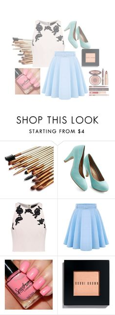 """""""Who wants a shoutout?"""" by shazzaandme ❤ liked on Polyvore featuring NOIR Sachin + Babi, WithChic, Bobbi Brown Cosmetics and Charlotte Tilbury"""