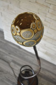 GOURD LAMP by MAWIKARThandcraft on Etsy