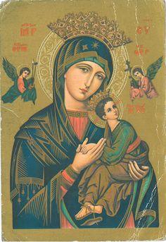 Our Lady of Perpetual Help novena. Novena Prayers, Catholic Prayers, Catholic Art, Image Jesus, Jesus Christ Images, Blessed Mother Mary, Blessed Virgin Mary, Religious Icons, Religious Art