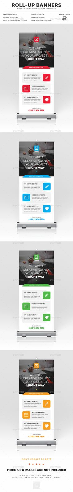 Corporate Roll-Up Banner Template PSD. Download here: https://graphicriver.net/item/corporate-rollup-banner/17029670?ref=ksioks