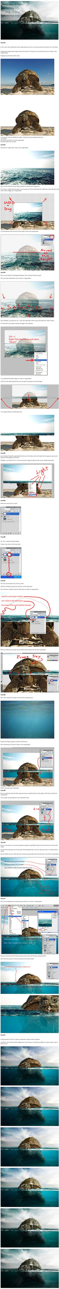 Under Water Easy Photoshop Tutorial by PSHoudini on deviantART