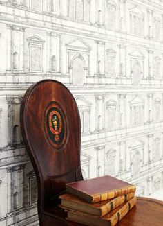 Zoffany intaglio wallpaper:Andrea Palladio #rethink_ hotels