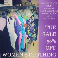 Whether you need formal or fitness we have great options!     #buylocal #shoplocal #thriftstore #thriftshop #hopewellva #petersburgva #colonialheights #chesterfield #rva #804 #summer #shopping #womensclothes #charityshop #whybuynew #womensfashion #summerclearance #blouses