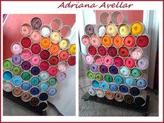 """Meu novo suporte para minhas Linhas em especial as """" Linhas Anne """" vou precisar de + 2 desses pois quero ter todas as cores ..."""