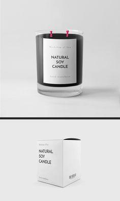 """Popatrz na mój projekt w @Behance: """"Soy Candle Label design"""" https://www.behance.net/gallery/50457943/Soy-Candle-Label-design"""