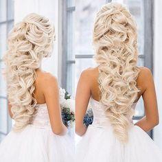 Wedding Hair at Elstile Wedding Hair Half, Wedding Hairstyles For Long Hair, Wedding Updo, Formal Hairstyles, Bride Hairstyles, Down Hairstyles, Pretty Hairstyles, Bridal Hair And Makeup, Hair Makeup