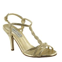 Fran by Benjamin Walk. Gold glitter 3 inch heel great for weddings and prom. #prom2014