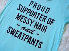 'Messy Hair And Sweatpants Top'  http://www.affordablychicboutique.com