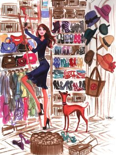 Here's to every girl's dream closet. Click the illustration and fall in love.