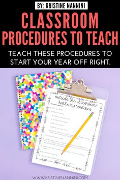 Classroom Procedures and Routines - Back to School Classroom Management Teaching Procedures, Classroom Procedures, Classroom Management, Classroom Ideas, 5th Grade Classroom, Middle School Classroom, Back To School, List Of Positive Words, Foreign Language Teaching