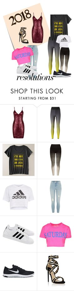 """""""#PolyPresents: New Year's Resolutions"""" by ren-pirkle ❤ liked on Polyvore featuring Post-It, Ultracor, Pepper & Mayne, adidas, River Island, Alberta Ferretti, NIKE, Paul Andrew, contestentry and polyPresents"""