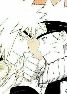 Father and son - Minato and Naruto Naruto Uzumaki, Anime Naruto, Madara Uchiha, Otaku Anime, Naruto Cute, Manga Anime, Naruhina, Minato Kushina, Hinata Hyuga
