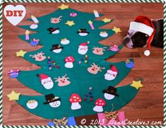 Felt Christmas Tree Diy easy to make felt Christmas tree for the kids to play with. Make felt ornaments that they can move around for a kids activity. Diy Felt Christmas Tree, Christmas Trees For Kids, Kids Holidays, Christmas Crafts, Christmas Ideas, Felt Diy, Felt Crafts, Diy Crafts, Felt Ornaments