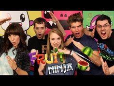 Joey & Meghan are  joined by Jovenshire & Sohinki(Smosh Games) and JennXPenn(Teen.com) playing Fruit Ninja on the Kinect