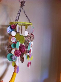 DIY Fabric Mobile for my toddler Diy Projects, Fabric, Blog, Tejido, Blogging, Handyman Projects